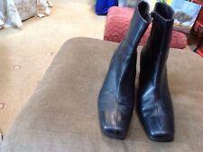 George UK 7 (41) Black Ultra Comfort Calf Boots-GC-SALE