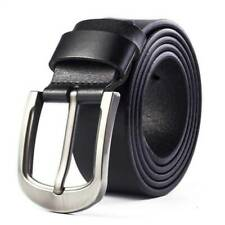 Men's Genuine Leather Dress Belt Casual Pin Buckle Waist Strap Belts Waistband.