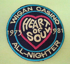 NORTHERN SOUL SKA MUSIC SEW ON / IRON ON PATCH:- WIGAN CASINO (a) HEART OF SOUL