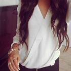 Fashion Women Ladies Summer Chiffon Long Sleeve Shirt Casual Blouse Loose Tops