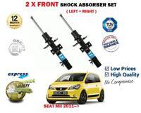 FOR SEAT Mii 1.0 2011->NEW 2 X FRONT LEFT + RIGHT SHOCK ABSORBER SHOCKER SET