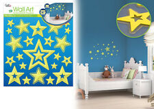 3D Glow in the Dark CELESTIAL wall stickers 23 decals NURSERY child decor stars