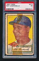 1952 Topps ROY CAMPANELLA RC #314 HOF PSA 1