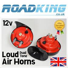 Loud 12v DUAL TONE Air Horn | 12 Volt LUMACA SIRENA rifatevi gli occhi con set per Auto Van 4x 12v