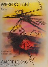 LAM WIFREDO WILFREDO AFFICHE SIGNÉE PRODUITE EN 1988 FOND LELONG SIGNED POSTER