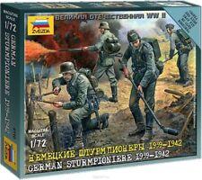 Zvezda tedesco sturmpioniere SQUADRA PLASTIC MODEL KIT-scala 1/72 - 6110