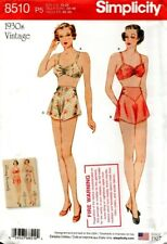 Simplicity Sewing Pattern 8510 Womens Vintage Bra Pants Underwear Size 12-20