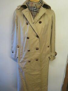 Genuine Vintage Aquascutum Beige Raincoat Coat Mac Size UK 14 Euro 42