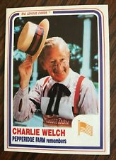 CHARLIE WELCH Signed Fan Card, The voice for the Pepperidge Farm 1979-1995