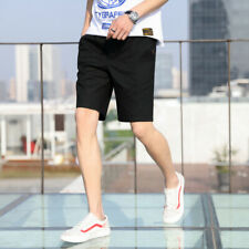Men's Fashion Simple Solid Color Loose Casual Beach Short Pants