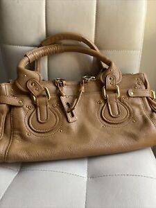 Chloe Paddington Brown Leather Bag *MISSING LOCK*
