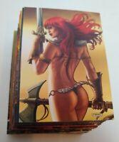 2011 Red Sonja (Breygent) Complete Base Set 1-72  !