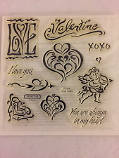 NEW Close To My Heart CTMH - In My Heart D1245 - Acrylic Rubber Stamp Set