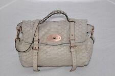 Mulberry Python Embossed Leather Oversized Alexa Satchel Womens Shoulder Handbag