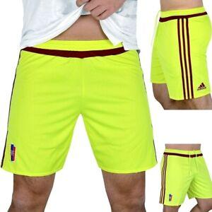 Adidas Men's Sports Shorts Training Trousers Football Bermuda Venzuela Neon Gelb