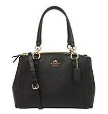 Coach Leather Small Christie Carryall Shoulder Bag Purse BLACK NWT NEW 2018