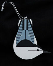 Charley Harper Brass Christmas Ornament - Charlie Harper White-Breasted Nuthatch