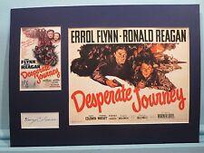 Errol Flynn & Ronald Reagan - Desperate Journey signed by Nancy Coleman