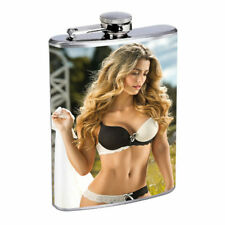Argentina Pin Up Girls D8 Flask 8oz Stainless Steel Hip Drinking Whiskey