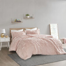~ BEAUTIFUL ULTRA SOFT PLUSH PINK FUR WARM  LUXURY CHIC LUXURIOUS COMFORTER SET