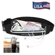 Slim Running Belt Waist Pack Phone Holder Reflective Waterproof Adjustable USA