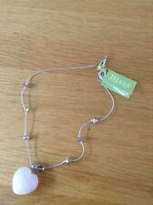 Quartz Heart Stone Costume Necklaces & Pendants