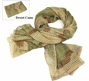 Camouflage Netting, Tactical Mesh Net Camo Scarf, Sniper Veil For Sports & Other