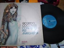 RICCARDO COCCIANTE LP CONCERTO PER MARGHERITA COPERTINA GOOD+ VINILE EX++