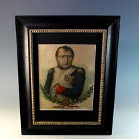 Antique Napoleon Bonaparte Colored Engraving