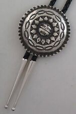 Quality Sterling Silver Elaborate Sunface Southwestern Bolo Tie