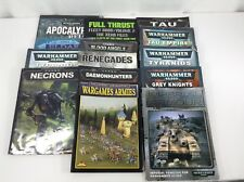 Warhammer Games Workshop Soft Cover Books Lot of 14 - Well Used and Worn