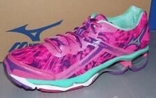 WOMENS MIZUNO WAVE CREATION 15 in colors PINK / SILVER / TURQUOISE SIZE 6.5