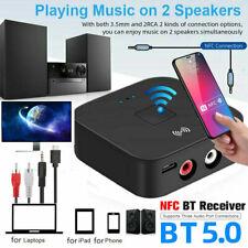 NFC Bluetooth 5.0 Empfänger Audio Receiver 3,5mm HiFi Kabellos Stereo Adapter DE