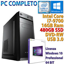 PC COMPUTER DESKTOP INTEL CORE i7-9700 RAM 16GB SSD 480GB DVD-RW HDMI WINDOWS 10