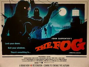 "THE FOG 1980 Repro 30""x 40"" quad poster JOHN CARPENTER 4K RESTORATION POSTER"