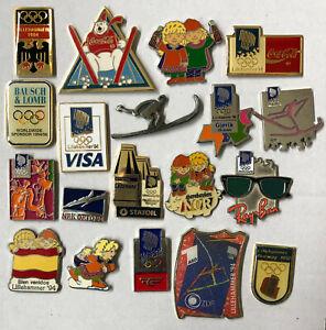 19 Olympic Summer Games Lillehammer 1994 pins. NOC Germany – ZDF / ARD media etc