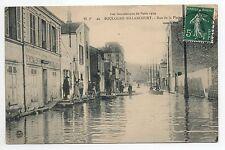 BOULOGNE BILLANCOURT Hauts de seine CPA 92 Innondations rue de la plaine en 1910