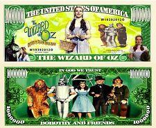 OUR WIZARD OF OZ CARTOON DOLLAR BILL (2 Bills)
