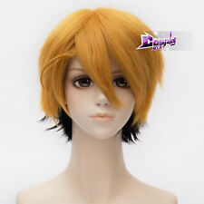 12 Inches Blonde Mixed Black Short Anime Black Butler Ronald Knox Cosplay Wig