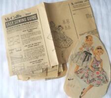 VINTAGE 1960'S McCALLS PATTERN 5264 GIRLS DRESS & OVERDRESS 10 YEARS