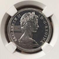 1967 Canada 50 Cents NGC PL 64 CAMEO - Silver - Confederation Centennial - Wolf