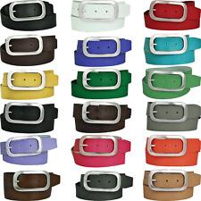 4cm Breit Echt Leder Guertel Wählbar von 18 Farben & 11 Längen BW