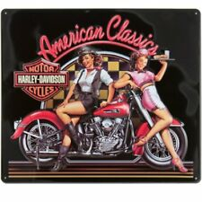 Harley Davidson American Classic Babes Tin Sign Man Cave Tavern Collectible