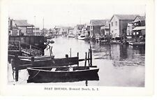 HOWARD BEACH QUEENS, BOAT HOUSES ON JAMAICA BAY, LONG ISLAND, NYC