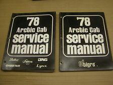 Set of 1978 Arctic Cat Snowmobile Factory Service Repair Manuals