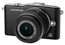 Olympus E-PM1 12.3MP Digitalkamera - Schwarz Kit mit 14-42mm und 40-150mm