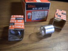 NOS Stanley Auto Motorcycle Lamp Light Bulb 6V 3W A4112 A 4112 Japan Quantity 2