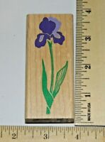IRIS Flower Rubber Stampede Posh Impressions Wood & Foam Rubber Stamp