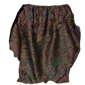 RALPH LAUREN Bohemian Paisley King Bed Skirt New