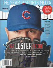JON LESTER 'CHICAGO CUBS' 2015 MLB PITCHER SIGNED SI MAGAZINE *COA 2